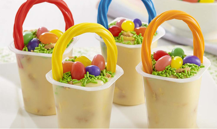 Easter candy baskets eggs and decorations walmart easter basket pudding cups negle Image collections