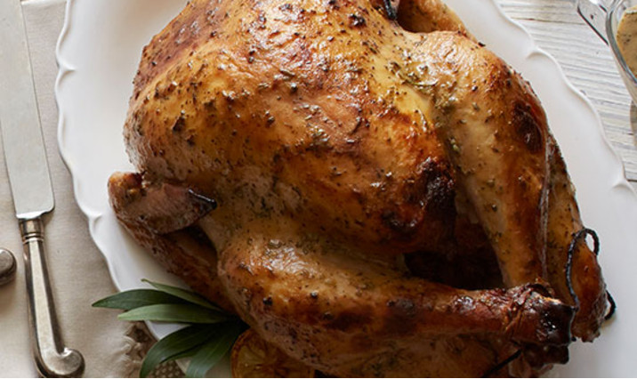 Roast Holiday Turkey Glazed with Greek Nonfat Yogurt & Lemon Curd