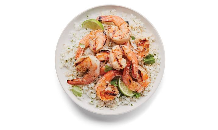 Garlic Butter Grilled Shrimp with Cilantro Lime Rice