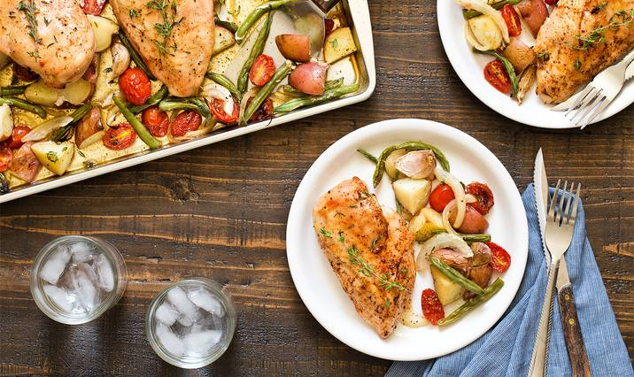 Sheet Pan Maple Chicken & Vegetables