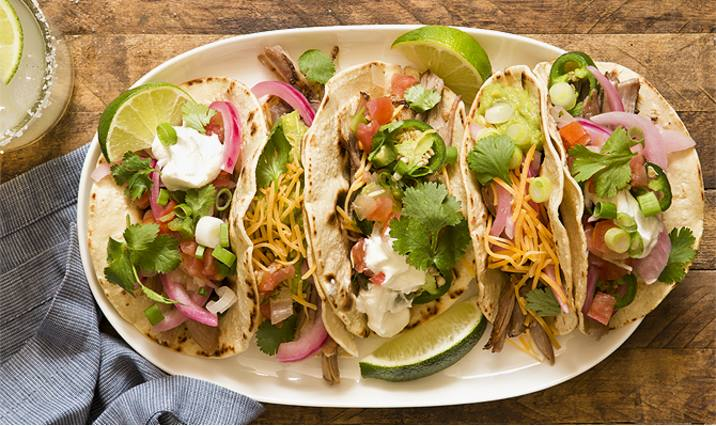 Slow Cooker Pork Carnitas Tacos with Picked Red Onions