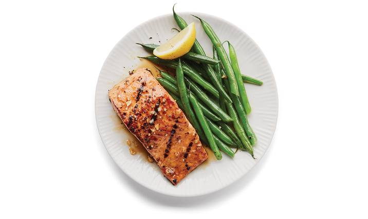 Soy Sauce & Brown Sugar Grilled Salmon